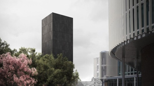 JAA Reimagines Grenfell as a Black Concrete Memorial Tower