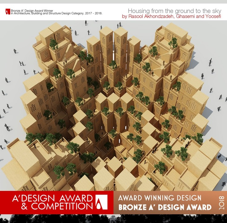 A' Design Award and Competition - Open Call: Building Structural Design Category 2017-2018, Housing from the ground to the sky The residential complex