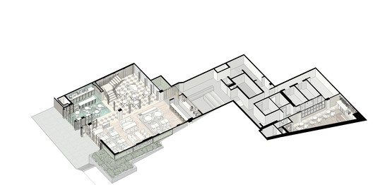 1st floor axonometric