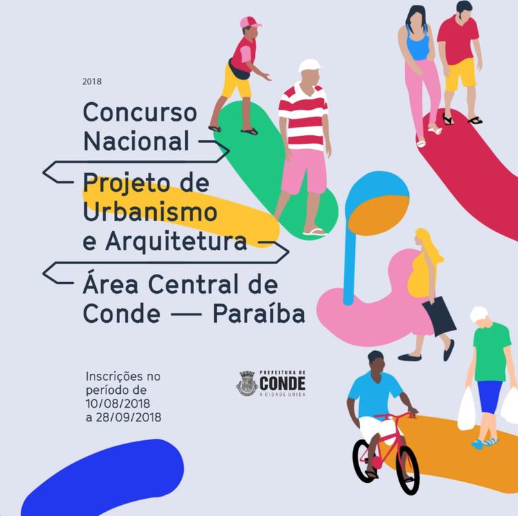 Concurso nacional para a reurbanização da área central de Conde, Paraíba, Cartaz Oficial