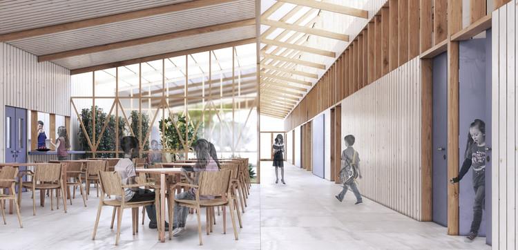 Prado Arquitectos diseñará la remodelación de la única escuela en la Isla Mocha, Chile, Cortesía de Prado Arquitectos