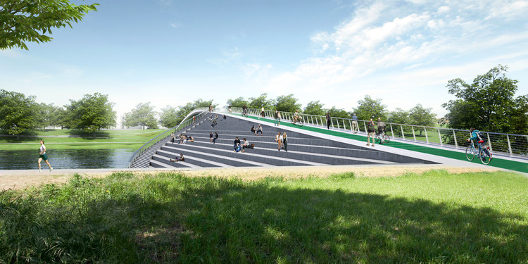 KILD Wins Competition for Kaunas Pedestrian and Cyclist Bridge in Lithuania , Courtesy of Davit Tsanava