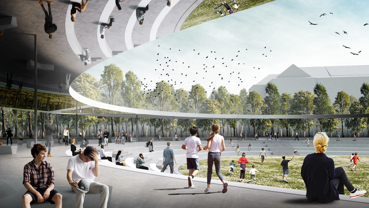 Superspace Re-Imagines Prague's Victory Square as a Social Center, Courtesy of Superspace