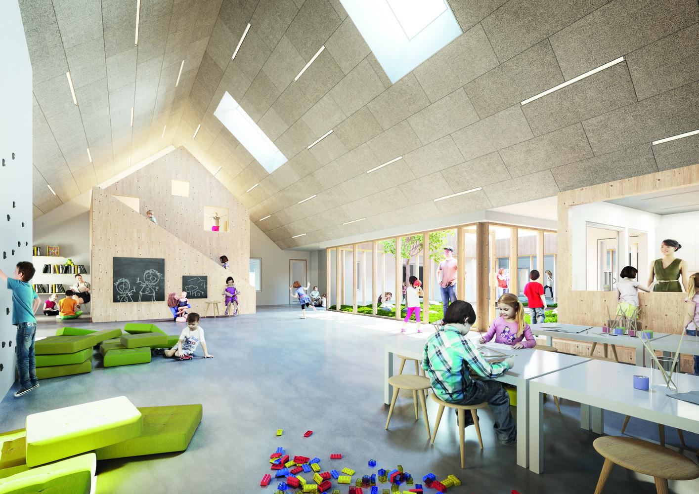 Galaxen Day Care Center Render Interior Common Dimension Design
