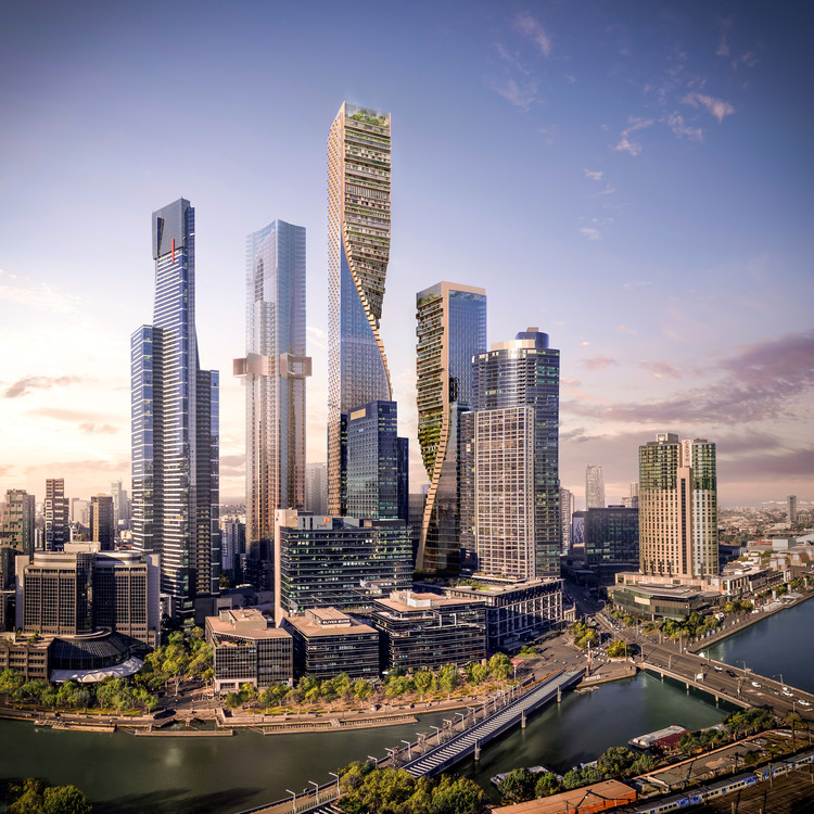 UNStudio Named Winner of Landmark Melbourne Skyscraper Competition , Green Spine / UNStudio + Cox Architecture . Image Courtesy of UNStudio / Cox Architecture