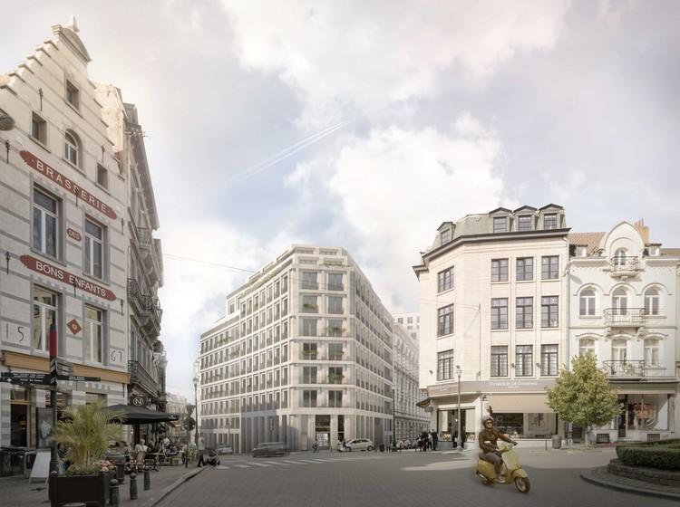 Escolhida proposta para regenerar bairro Le Sablon de Bruxelas, Lebeau – Sablon. Cortesia de MLA+