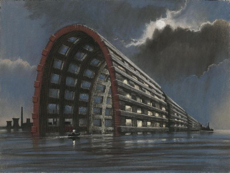 Drawings by Tchoban, Holl, and Calatrava Among Stunning Entries for the First Athens Architecture Club Exhibition, New Entry 5 / Sergei Tchoban (Gold Medal Winner). Image Courtesy of The Chicago Athenaeum Museum of Architecture and Design
