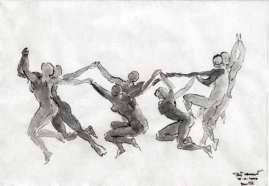The Dance / Santiago Calatrava. Imagen cortesía de The Chicago Athenaeum Museum of Architecture and Design