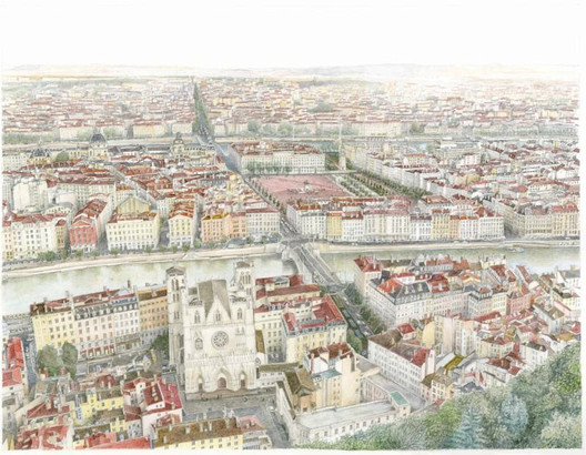 Vista de Lyon, Francia / James Von Klemperer. Imagen cortesía de The Chicago Athenaeum Museum of Architecture and Design
