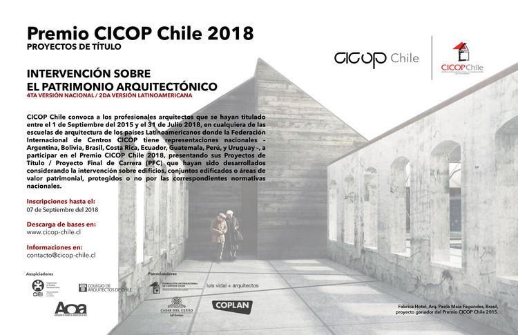 Premio CICOP Chile 2018, Cicop Chile