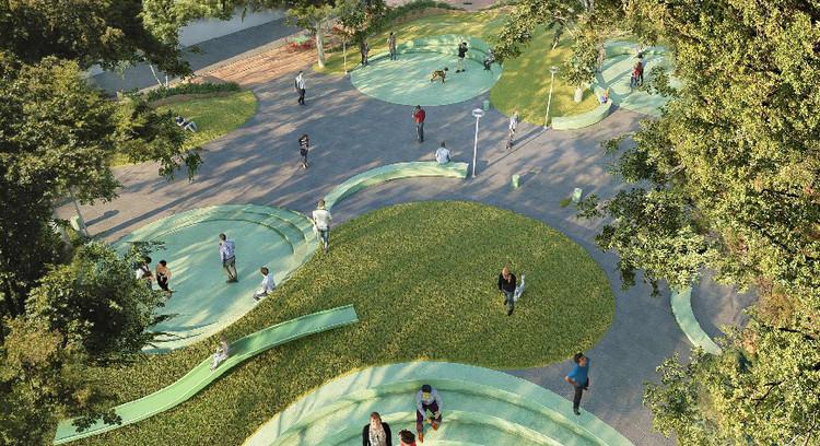 Conoce las propuestas ganadoras del 'Concurso Nacional de Ideas: Diseño de la Plaza 3' en San Isidro, Lima, Cortesía de Municipalidad de San Isidro