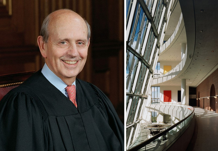 Stephen Breyer, o novo presidente do júri do Prêmio Pritzker, Justiça Breyer. Cortesia do Supremo Tribunal dos Estados Unidos