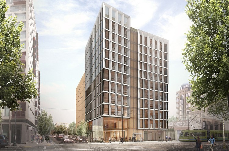 Oregon Becomes the First State to Legalize Mass Timber High Rises, Framework. Image Courtesy of LEVER Architecture
