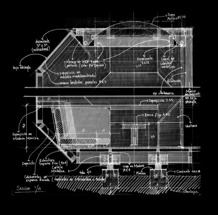 40 obras colombianas explicadas a través de sus dibujos, © Manuel Villa Arquitectos. ImagePoliedro Habitable / Manuel Villa Arquitectos