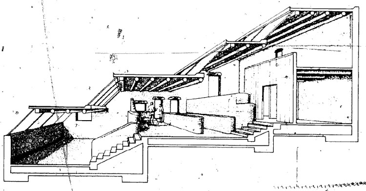 Karen Terry House Section, Santa Fe, New Mexico. Image Courtesy of The Passive Solar Energy Book
