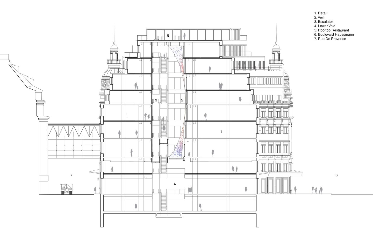 Gallery Of Printemps Haussmann Verticalit Uufie 33 Escalator Schematic Verticalitsection