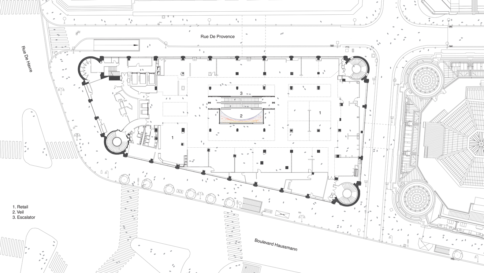 Gallery Of Printemps Haussmann Verticalit Uufie 32 Escalator Schematic Verticalit5f Plan