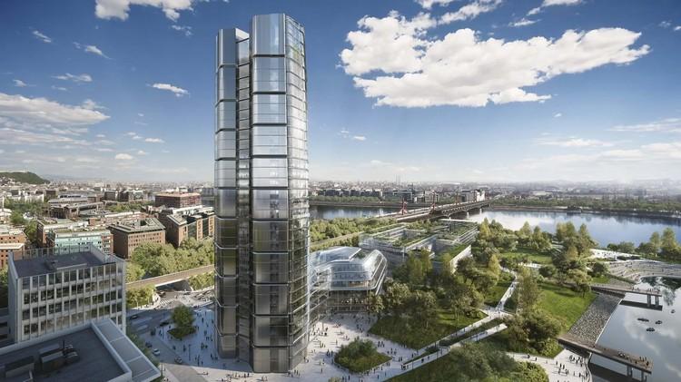 Apesar da rígida legislação, arranha-céu de Foster + Partners será construído em Budapeste, Campus MOL. Imagem Cortesia de Foster + Partners