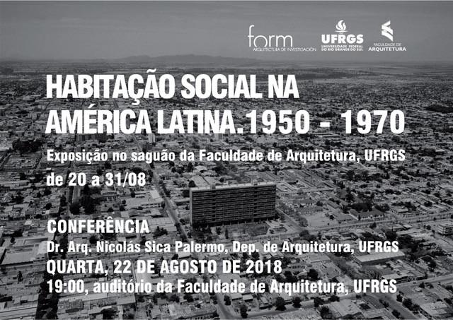 Habitação Social na América Latina. 1950-1970, Imagem do cartaz: Bloque Salta, arq. Eduardo Larrán. Salta, Argentina.