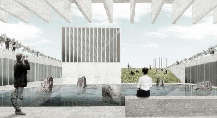 El segundo Museo de la Memoria en Chile se queda sin fecha de construcción, Diseño ganador del Museo de la Memoria y los Derechos Humanos en Concepción, fallado en noviembre de 2016. Image Cortesía de Gobierno Regional Biobío