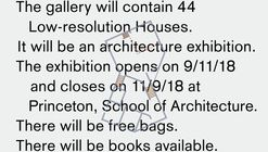 Exhibition: 44 Low-resolution Houses