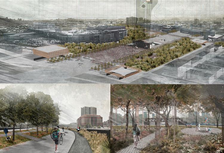 Presentan diseño ganador de la explanada cívica que unirá Concepción con el río Biobío en Chile, Primer Lugar. Image Cortesía de FESUR