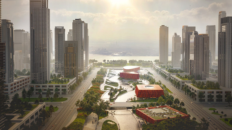 Powerhouse and Benthem Crouwel Propose Sponge-Inspired Athlete Village for 2022 Asian Games, © Powerhouse Company, SMARTLAND and 3D Studio Prins.