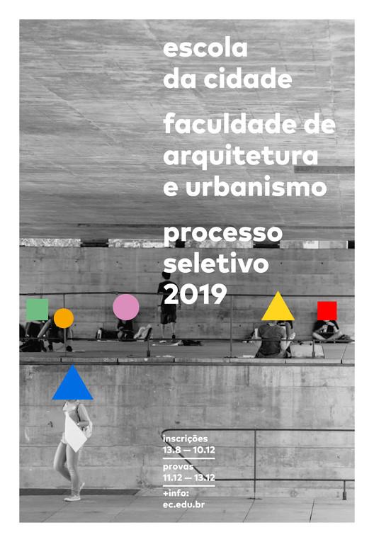 Inscrições para o Processo Seletivo 2019 Escola da Cidade