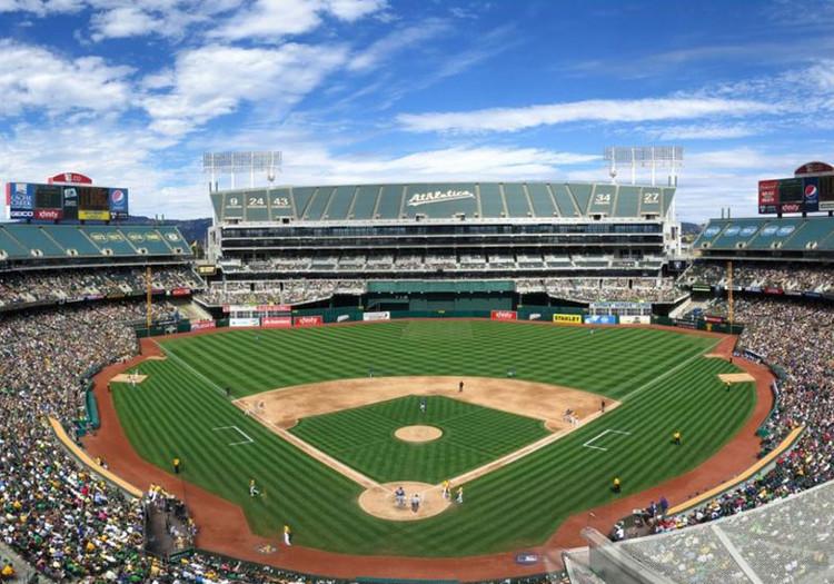 BIG, Gensler, and James Corner Field Operations to Design Oakland Athletics Baseball Stadium, The existing Oakland-Alameda County Coliseum. Image via BIG