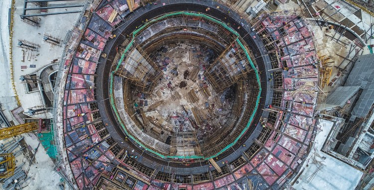 Drone Footage Reveals Shanghai Planetarium Construction Progress, Shanghai Planetarium. Image Courtesy of Ennead Architects