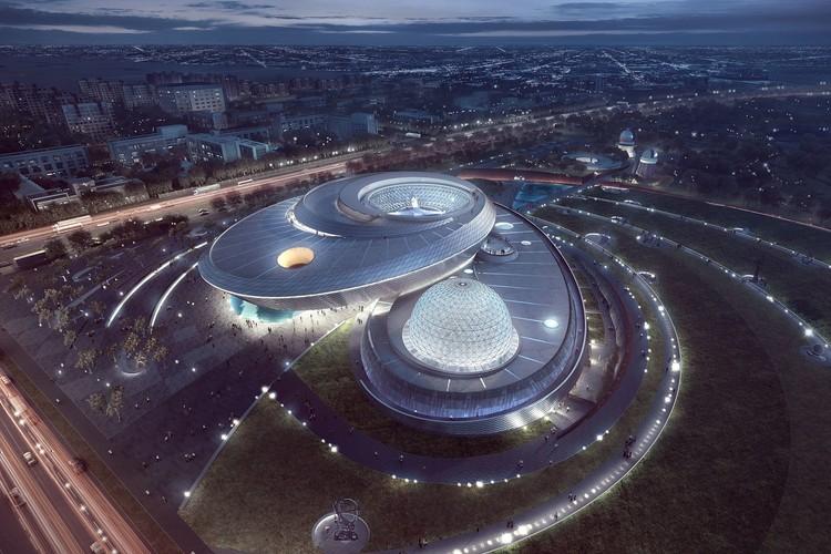 Planetario de Shanghai. Imagen cortesía de Ennead Architects