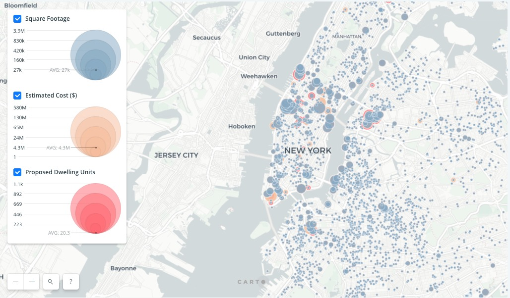 Interactive Map Of New York City.Gallery Of Explore Every Construction Project In New York City With