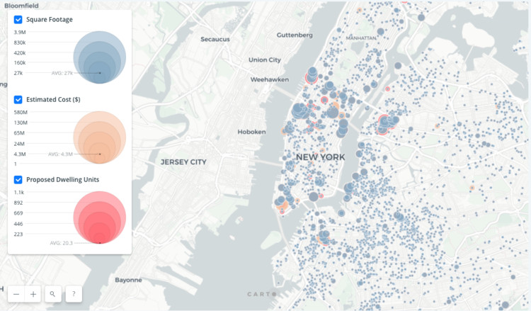 Interactive Map Of New York City.Explore Every Construction Project In New York City With This New