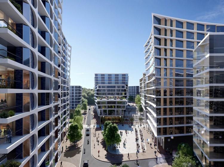 Zaha Hadid Architects Reveals Alternative Plan for Bristol Arena Site, Temple Island Development. Image Courtesy of Zaha Hadid Architects