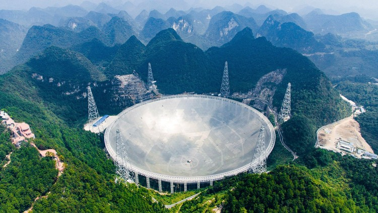 The World's Largest Telescope Takes Shape in Southern China, FAST. Image © Liu Xu - Xinhua News Agency, Getty Images