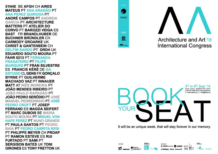AAICO (Architecture and Art International Congress at Oporto): see the lectures and workshops, Courtesy of AAICO