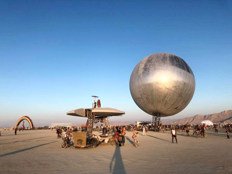 BIG's Giant Reflective ORB Takes Shape at Burning Man, ORB. Image © Kai-Uwe Bergmann