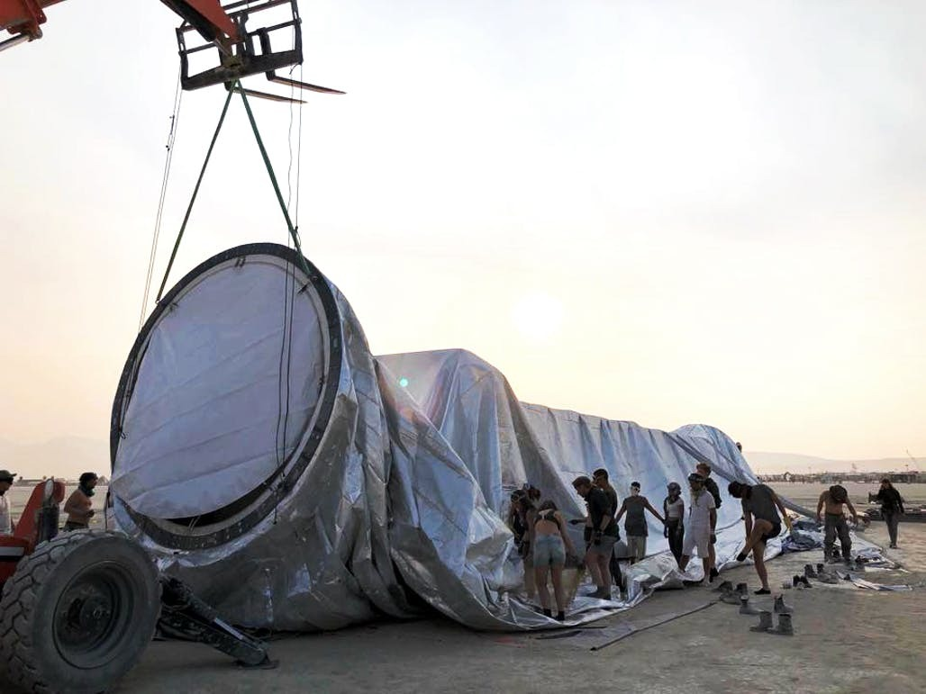 f33507502ce Gallery of BIG s Giant Reflective ORB Takes Shape at Burning Man - 6