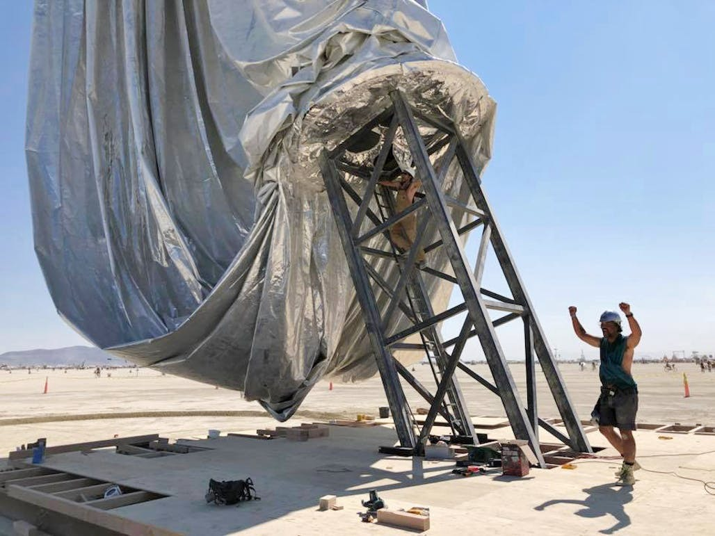 6a76f2d4417 Gallery of BIG s Giant Reflective ORB Takes Shape at Burning Man - 2