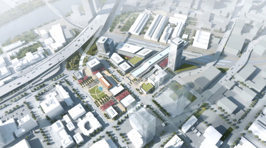Sacramento Valleys Station Master Plan. Image Courtesy of Perkins + Will