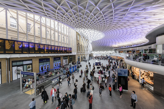 Courtesy of Flickr user Andrew Stawarz. ImageKing's Cross Station Concourse / John McAslan + Partners