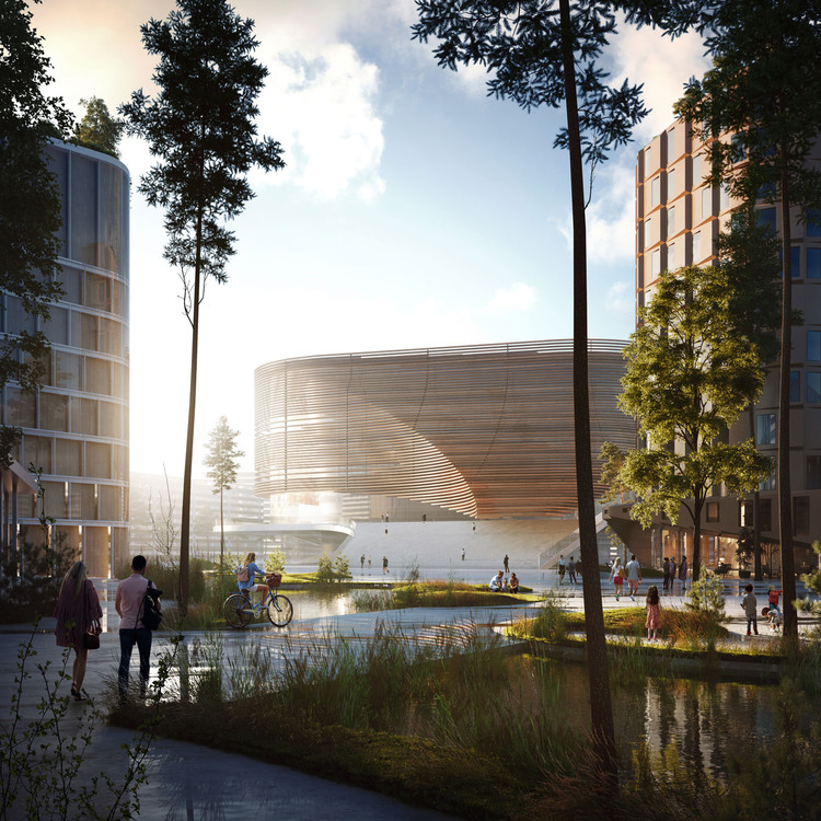 3XN propõe arena que transformará a região norueguesa de Bergen, tombada pela UNESCO, via 3XN