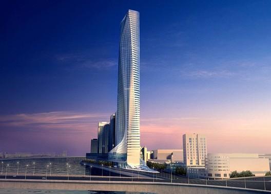 Nile Tower. Image Courtesy of Zaha Hadid Architects