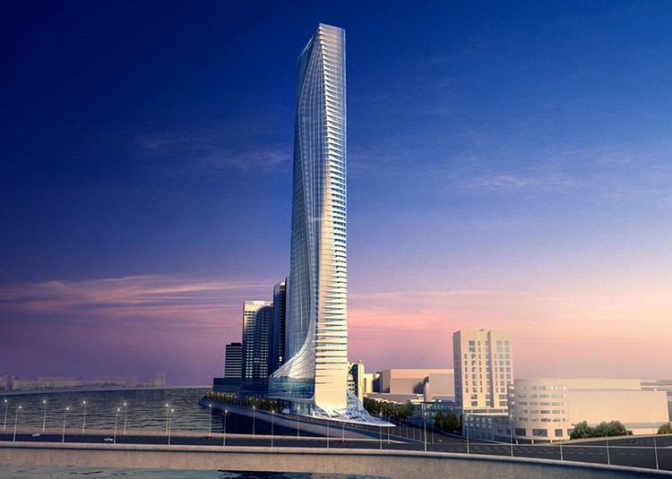 Africa's Tallest Skyscraper by Zaha Hadid Will Finally Rise in Egypt, Nile Tower. Image Courtesy of Zaha Hadid Architects
