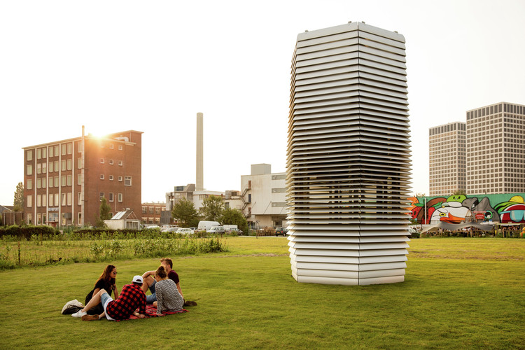 The Top 10 Inspirational Design Cities of 2018, As Revealed by Metropolis Magazine, Courtesy of Studio Roosegaarde. ImageStudio Roosegaarde's Smog Free Tower