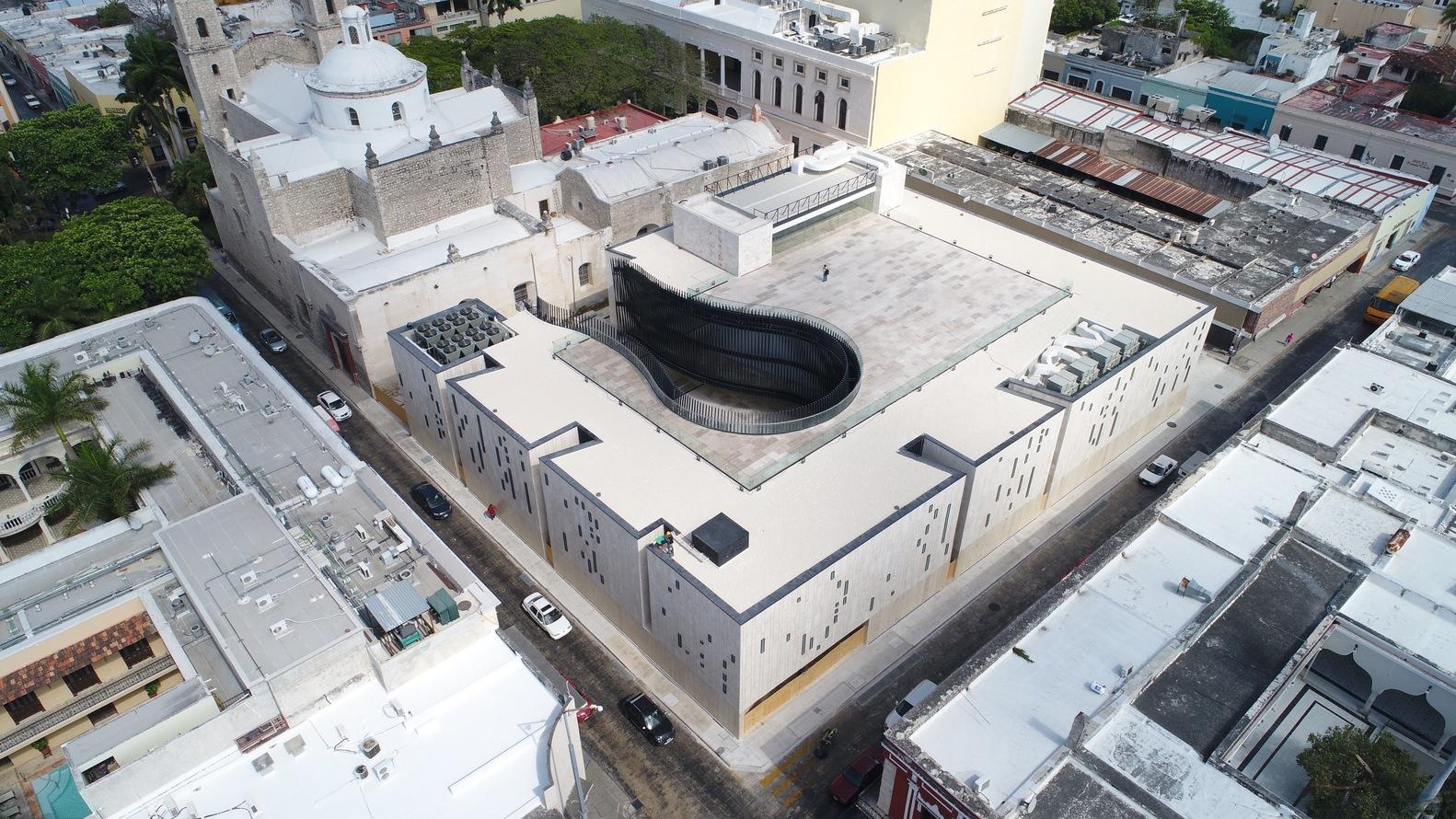 vista aérea del palacio de la musica