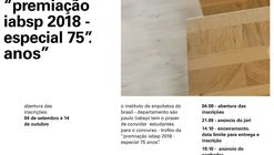 """Concurso de projeto para o troféu da """"Premiação IABsp 2018 - Especial 75 anos"""""""