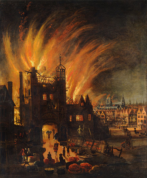 The Great London Fire . Image Courtesy of Wikimedia User DcoetzeeBot Under Public Domain