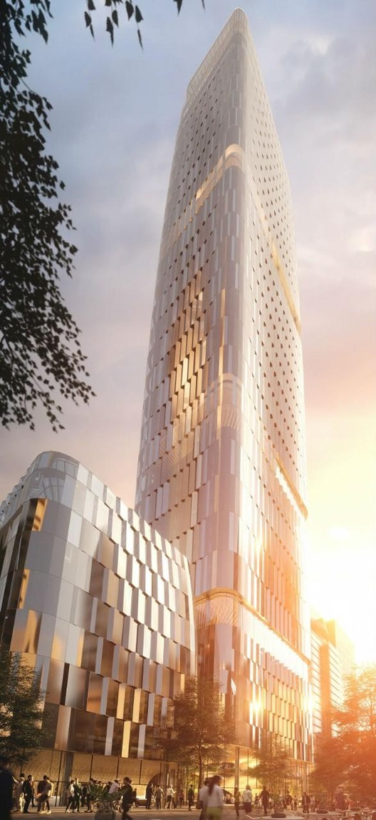 Zaha Hadid Architects, Woods Bagot, and Cox Among Finalists Announced for Auckland Tower Competition