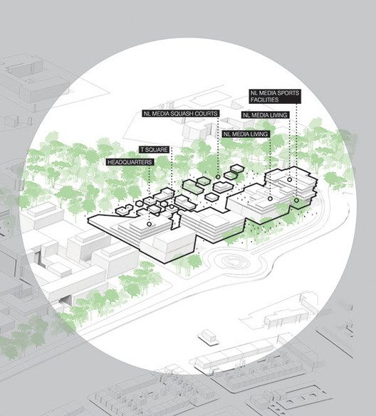 Hilversum Media Park. Image Courtesy of UNStudio